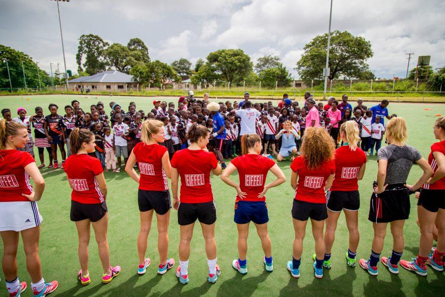 Jan Willem in Zambia: Teambuilding met AHBC Dames 1