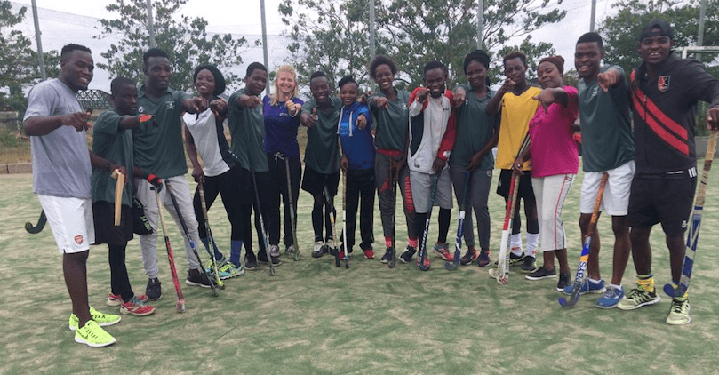 Sports workshop in Zambia